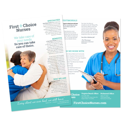 First Choice Nurses Flyers